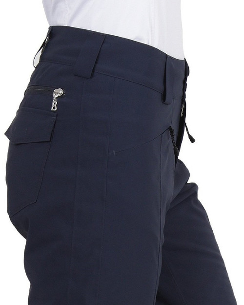 Fire & Ice Liza2 Womens Ski Pants | 1468 in Indigo blue, from the side, close up