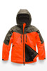 The North Face Chakal Insulated Ski Jacket | Boy's | NF0A3CPT | V0T | Power Orange | Front