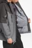 The North Face Chakal Insulated Ski Jacket | Boy's | NF0A3CPT | DYY | TNF Medium Grey Heather | Inside Detail