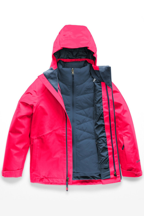 The North Face Fresh Tracks Gore-Tex Triclimate Ski Jacket | Girl's | NF0A34WM | 4CK | Atomic Pink | Front