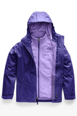 The North Face Mountain View Triclimate Ski Jacket | Girl's | NF0A34UW | 3XZ | Deep Blue | Front