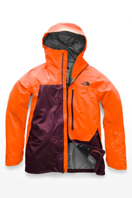 The North Face Free Thinker Ski Jacket | Men's | NF0A3IF2 | 6NE | Persian orange | Fig | Front