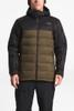 The North Face Gatebreak Down Jacket | Men's | NF0A3332 | 1UV | Beech Green | TNF Black | Front Styled