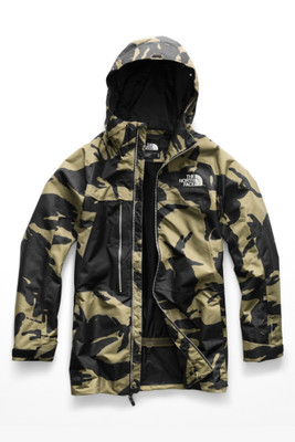 The North Face Repko Ski Jacket | Men's | NF0A3IFB | N0W | Burnt Olive Green | TNF Black | Front
