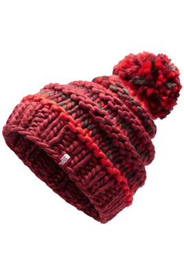 The North Face Nanny Knit Beanie | Women's | NF00A9EW | 7WP | Rumba Red | Juicy Red Multi