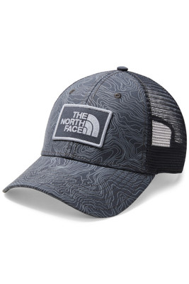 The North Face Printed Mudder Trucker Hat | Men's | NF0A2SB1 | 7CR | Asphalt Grey Linear Topo Print