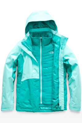 The North Face  Mossbud Swirl Triclimate Ski Jacket | Women's | NF0A3O74 | 7BM | Mint Blue | Kokomo Green | Front