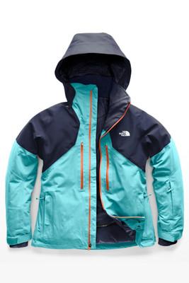 The North Face Powder Guide Ski Jacket | Women's | NF0A3KQA | 6GT |  Transantarctic Blue | Urban Navy | Front