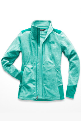 The North Face Shastina Stretch Full Zip | Women's | NF0A3ETF | 7GY | Mint Blue Heather | Kokomo Green | Front