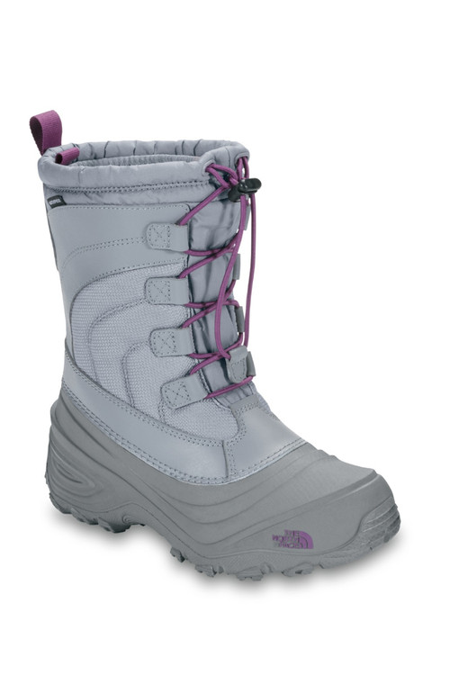 The North Face Alpenglow IV Boot | Youth | NF0A2T5P | ZFH | Frost Grey | Wood Violet | Front