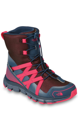 The North Face Winter Sneaker | Youth | NF0A2YB3 | 5UL | Blue Wing Teal | Atomic Pink | Front