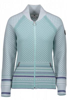 Obermeyer Sweater | Women's Belletex Full-Zip | 16036 | 8065 | Laguna Cay | Front
