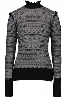 Obermeyer Sweater | Women's Charmoise Knit Turtleneck | 16038 | 6009 | Black | Front
