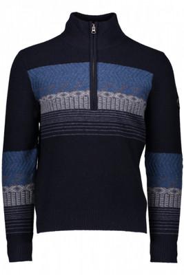 Obermeyer Sweater | Men's Textured 1/2 Zip | 26018 | 8162 | Trident | Back