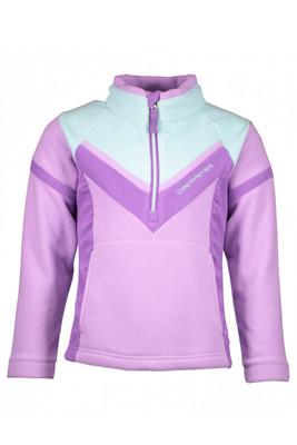 Obermeyer Fleece | Girl's Slide Fleece Top | 57026 | 8075 | Violetta | Front