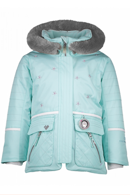 Obermeyer Ski Jacket | Girl's Lindy | 51044 | 7060 | Sea Glass | Front
