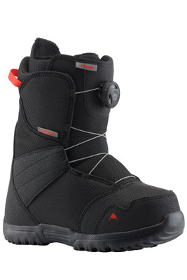 Burton Zipline Boa Boots | Youth | 131911| Front View | Black