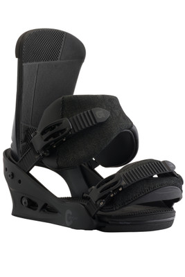 Burton Snowboard Binding | Men's Custom Re:Flex | 105421 | 004 | Black Matte | Front