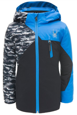 Spyder Mini Ambush Ski Jacket | Boy's | 183510 | 019 | Black | Front