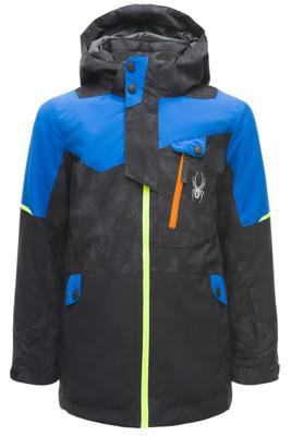 Spyder Tordrillo GTX Ski Jacket   Boy's   183700   24   Cloud Reflective Distress   Black   Turkish Sea   Front