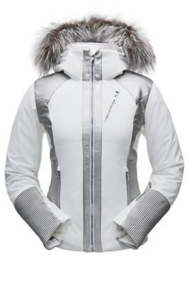 Spyder Amour Real Fur Ski Jacket | Women's | 182700 | 100 | White | Front
