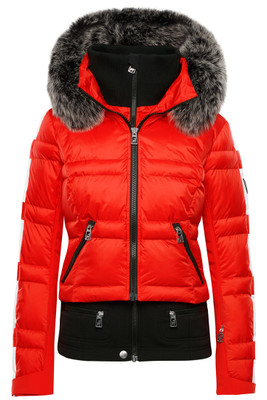 Toni Sailer Virginie Fur Trimmed Women's Ski Jacket | 282106F in 454 Fire Orange