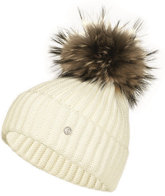 Bogner Leonie Knit Hat with Pom | 9154 - 753 Off White