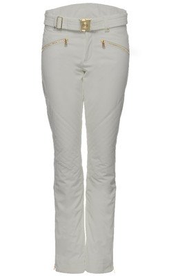 Bogner Franzi-2 Women's Ski Pants | 115719 in a Soft Grey with Gold hardware