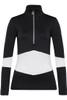 Toni Sailer Luna Women's 1/2 Zip T-Neck Layer | 282303 in Black and W\hite