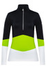 Toni Sailer Luna Women's 1/2 Zip T-Neck Layer | 282303 in Lime, Black and White