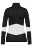 Toni Sailer Luna Women's 1/2 Zip T-Neck Layer | 282303 in Black and White, from the back