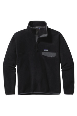 Patagonia Light Weight Synchilla Snap-T Pullover | Men's | 25580 | BFO | Black w/ Forge Grey | Front