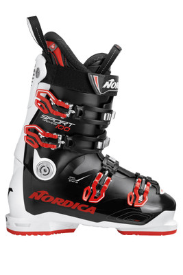 Nordica Sportmachine 100 Ski Boot | Men's | 050R3000N99 | Black White Red | Outside