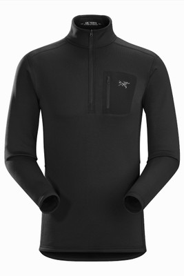 Arc'teryx RHO AR Zip Neck | Men's | 11272 | Black | Front