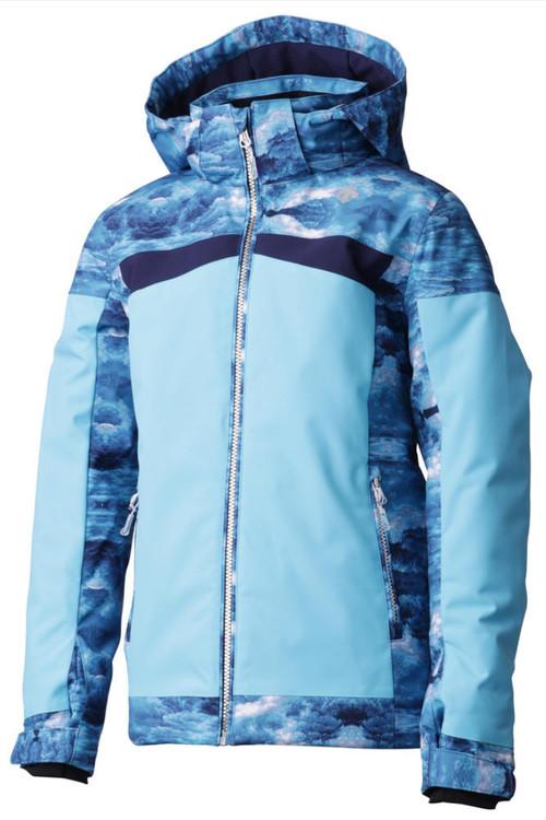 Descente Harlely Ski Jacket | Girl's | DWJMGK11B | 62 | Cerulean Blue | Front
