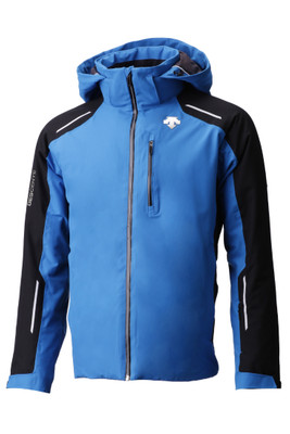 Descente Challenger Men's Ski Jacket | DWMMGK20B in Airway Blue and Black