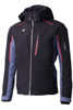Descente Terro Men's Ski Jacket | DWMMGK29B from the Peak Collection, in Black and Electric Red