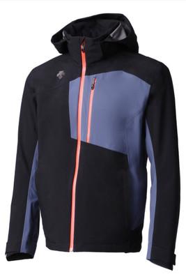 Descente Rage 3L Ski Jacket | Men's | DWMMGK33B | 9394 | Black/Midnight Shadow | Front