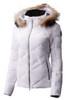Descente Anabel Fur Ski Jacket | Women's | DWWMGK30F | 04 | Super White | Front