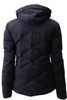 Descente Anabel Fur Women's Ski Jacket | DWWMGK30F, view from the back, with the fur trim removed