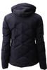 Descente Anabel Fur Ski Jacket | Women's | DWWMGK30F | 93 | Black | Back without fur liner