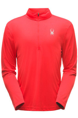 Spyder Limitless Solid Zip T-Neck | Men's | 181354 | 600 | Red