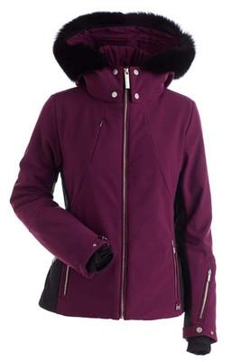 Nils Pia Women's Ski Jacket with Real Fur Hood Trim   2238BRF   Plum completes a stylish enemble