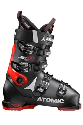Atomic Hawx Prime 100 Ski Boot | Men's | AE5018040 | Black/Red | Side View