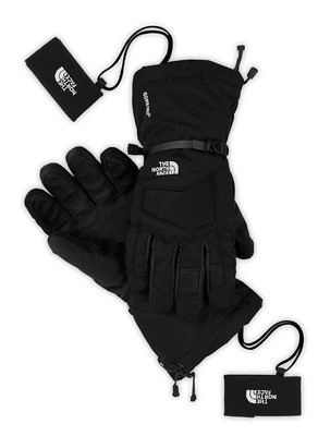 North Face POWDERFLO GoreTex Insert Glove for Ladies feature Technical 5-D Fit, Black, Waterproof and Breathable Gloves