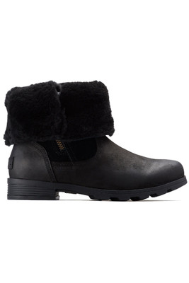 Sorel Emelie Foldover Boot | Women's | 1809031 | Black | Folded
