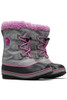 Sorel Yoot Pac Nylon Boot | Little Kids | 1638022 | Chrome Grey | Orchid | Side Pair
