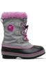 Sorel Yoot Pac Nylon Boot   Big Kids   1638021   Chrome Grey   Orchid   Side