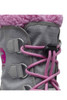 Sorel Yoot Pac Nylon Boot   Big Kids   1638021   Chrome Grey   Orchid   Lace Detail