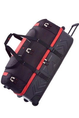Athalon Luggage | Platinum Armored Wheeled Duffel | ATH961 | Black